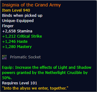 New Legendary: Insignia of the Grand Army