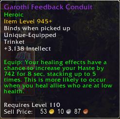 Antorus Healing Trinkets: Garothi Feedback Conduit