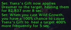 Resto Druid Tier 21 bonuses