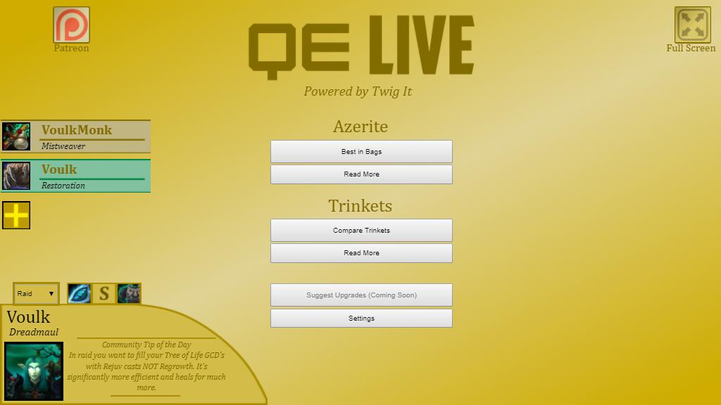 QE Live Demo