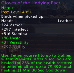 Crucible of Storms: Gloves of the Undying Pact (Leather)
